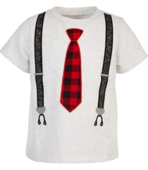 first impressions baby boys tie & suspenders t-shirt, created for macy's
