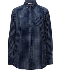 shirts overhemd met lange mouwen blauw signal