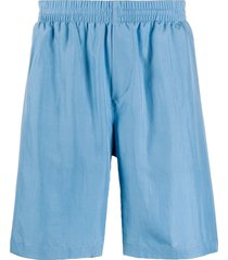 msgm silk shorts - blue