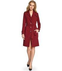 korte jurk style s094 trenchcoat - kastanjebruin