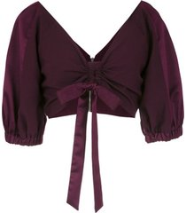 olympiah top cropped 'tyrian' - roxo