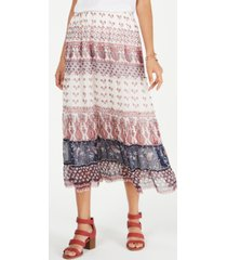 style & co petite printed woven midi skirt, created for macy's