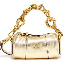 'micro cylinder' thick chain leather shoulder bag