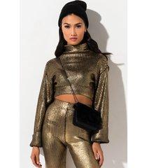 akira drippin metallic sweater