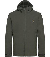 bective soft shell hooded jacket dun jack groen farah