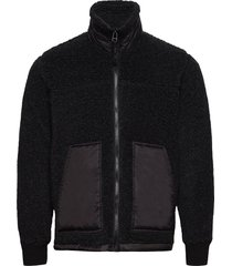chunky fleece jeff sweat-shirts & hoodies fleeces & midlayers svart mads nørgaard