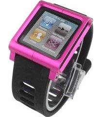 manilla tipo reloj lunatik para ipod nano 6- rosado