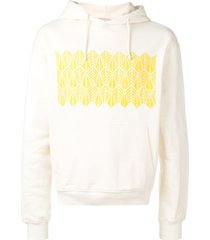 adish embroidered hoodie - neutrals