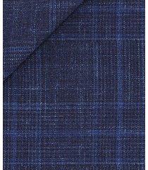giacca da uomo su misura, loro piana, principe di galles lana seta lino blu scuro, primavera estate | lanieri