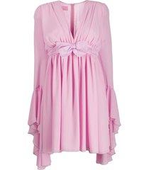 giamba fluted-cuff babydoll dress - pink