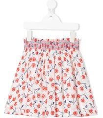 bonpoint cherry print skirt - white