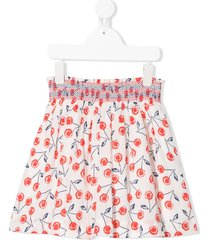 bonpoint cherry print skirt - white