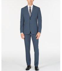 perry ellis premium men's slim-fit stretch tech suit