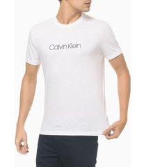 camiseta masculina slim flamê branca calvin klein - pp