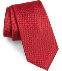 men's nordstrom hailey solid silk tie, size regular - red