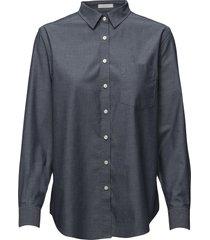 darbyoxfsh overhemd met lange mouwen blauw peak performance