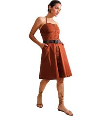 vestido marrón gold natalia ashley