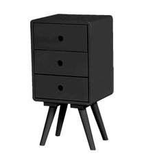 mesa de cabeceira open preta base madeira - 57192 preto