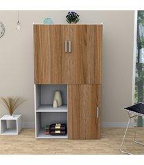 armário multiuso com nichos 2 portas mesa lilies móveis