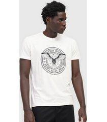 camiseta ellus estampada off-white