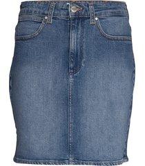 mid skirt kort kjol blå wrangler