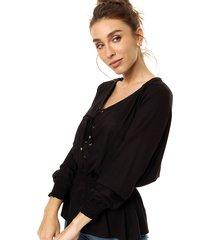 blusa negra emmao corset