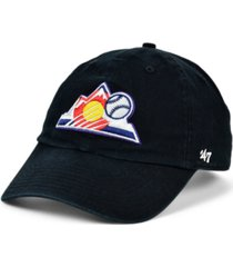 '47 brand colorado rockies on-field replica clean up cap