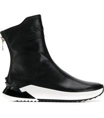 balmain b-glove boot sneakers - black
