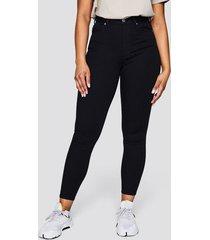 high waist curve jeans - svart