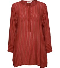 golda tunic blouse lange mouwen rood masai