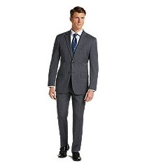 1905 collection tailored fit glen plaid organica® wool men's suit with brrr°® comfort - big & tall by jos. a. bank