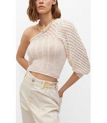 mango asymmetric knit sweater