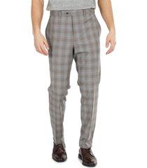 tallia men's slim-fit plaid suit pants
