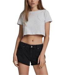 women's mid relaxed denim shorts