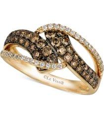 le vian chocolatier diamond statement ring (7/8 ct. t.w.) in 14k gold