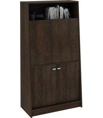 armário mesa rustico tecno mobili marrom