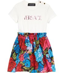 infant girl's versace kids' tie dye roses mock two-piece dress