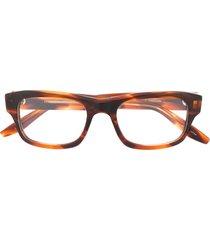 barton perreira two-tone square frame eyeglasses - brown