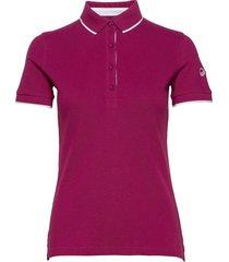 vuokko women's pique polo shirt t-shirts & tops polos lila halti