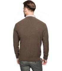 sweter cilian półgolf brąz