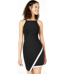 bcx juniors' asymmetrical-hem rhinestone dress