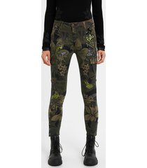 skinny cargo trousers - green - 38