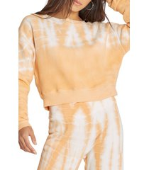 women's wildfox melon wash regal sweatshirt, size x-small - orange