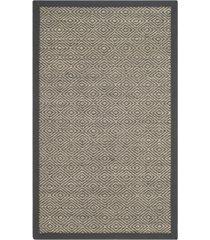 safavieh natural fiber natural and dark gray 3' x 5' sisal weave area rug
