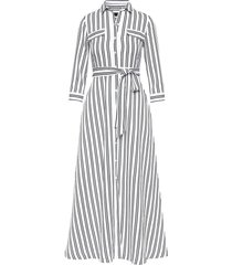 vestido maxi stripe blanco banana republic