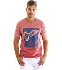camiseta kassis estonada goiaba - rosa - masculino - algodã£o - dafiti