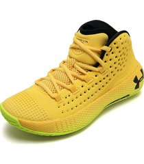tenis basketball amarillo-negro under armour hovr havoc 2
