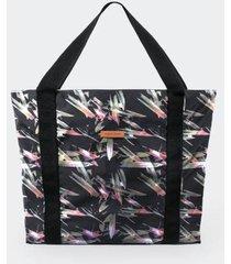 bolso estampado color siete para mujer - negro