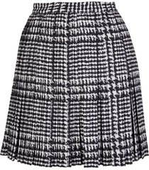 ermanno scervino cady trouser skirt with prince of wales print