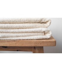 lniany ręcznik frotte creamy white